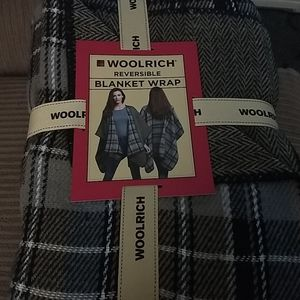 Woolrich reversable blanket wrap